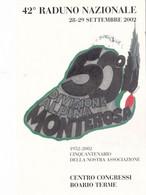 42° Raduno Nazionale Settembre 2002 - 50° Divisione Alpina Monterosa - Equipment