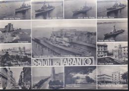 Cartolina ITALIA : TARANTO - Saluti Con Vedute E Navi Militari.n.v. - Andere