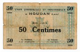 HOUDAN (78) // UNION COMMERCIALE & INDUSTRIELLE // Bon De Cinquante Centimes - Bonds & Basic Needs