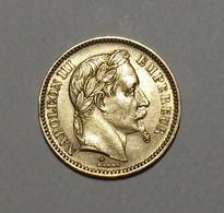 1865 - France - 20 FRANCS, NAPOLEON III, Tête Laurée, (A), Paris, Or, Second Empire, KM 801.1, Gad 1062 - Goud