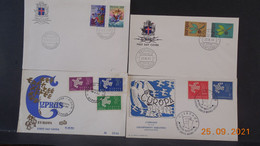 Petit Lot De 34 Enveloppes FDC Sur Le Thème EUROPA Intéressant. - Colecciones (sin álbumes)