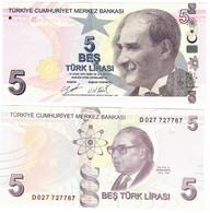 Turkey 5 Lira 2009 (2020) UNC - Turquie