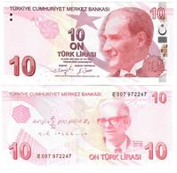 Turkey 10 Lira 2009 (2021) UNC - Turquie