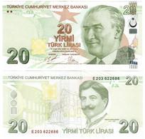 Turkey 20 Lira 2009 (2020) UNC - Turquie