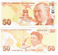 Turkey 50 Lira 2009 (2020) UNC - Turquie