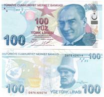 Turkey 100 Lira 2009 (2020) UNC - Turquie