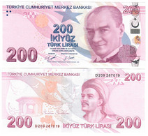 Turkey 200 Lira 2009 (2020) UNC - Turquie