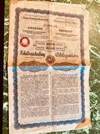 Sté Des Chemins De Fer De L' État Autrichien- Hongrois --------Obligation  De  500 Frs - Railway & Tramway