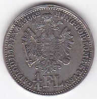 Autriche. 1/4 Florin 1862 A (Vienne). Franz Joseph I. En Argent . KM# 2214 - Austria