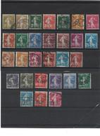 311 LOT TRES COMPLET De 29 Semeuse 1906-1938 Oblitérées - 1906-38 Semeuse Con Cameo