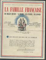 Tract époque PETAIN , La Famille Française , Exposition Ambulante Du Commissariat Général à La Famille -  Fau 11210 - Historische Documenten