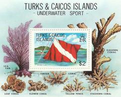TURKS & CAICOS ISLANDS - Underwater Sport, Coraux - BF - MNH - Turks- En Caicoseilanden