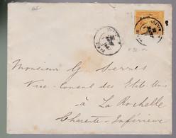 25 C Type Sage   Sur  Une Enveloppe   Destination La Rochelle  ( Charente Inférieure ) 1881 - 1876-1898 Sage (Type II)