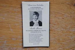 5506/Norbi REISEN - NIDDERWOLTZ (LUXEMBOURG) 10/8/53 - Décès