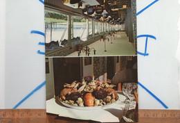 Carte De Visite Format CP Pliable : Hotel Restaurant DE L'ESPERANCE Mr Paire HEROUVILLE Bourg Calvados - Cartoncini Da Visita