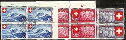 Schweiz Suisse 1939: Zu 219-221 Mi 335-337 Yv 326-328 Blocks Mit Stempel SCHLIEREN 8.II.39 ZÜRICH (Zumstein CHF 65.00) - Used Stamps
