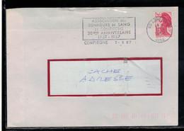 YT2376 SSL   OBL FL  ASS DES DONNEURS SANG COMPIEGNE 30° ANNIV 1957/1687 - Medicina