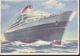 Cartolina ITALIA : NAVE SHIP NAVIRE BOAT BATEAU TRANSATLANTICO ANDREA DORIA .n.v. - Andere