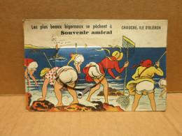 ILE D'OLERON CHAUCRE (17) Carte à Système Dépliant Pecheuses à Pied - Ile D'Oléron