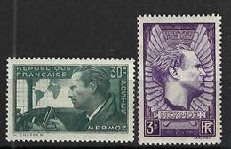 FRANCE 1937: Les Y&T 337-338, Neufs** - 1927-1959 Mint/hinged