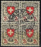 Schweiz Suisse 1932: Wappen 2 Fr (1924) Zu 166 Mi 197x Yv 211 Im Block Mit Stempel BERN 12.XII.32 (Zumstein CHF 50.00) - Used Stamps