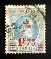 1927-1928 King Albert, Belgium, Belgique, België, Used - 1865-1866 Profile Left