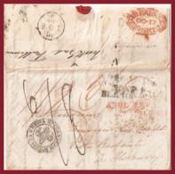 1834, Dal Regno Unito A Firenze Via Francia E Sardegna - ...-1850 Voorfilatelie