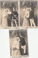 Série Complète 5 Cartes - On S'en Va 2 à 2 Pour Cueillir Des Cerises - Couple Amour - Précurseur 1903 - Petits Défauts - Unclassified