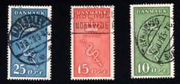 1929 Kampf Gegen Den Krebs Mi DK 177 - 179 Sn DK B3 - B5 Yt DK 190 - 192 Sg DK 252 - 254 - Gebruikt