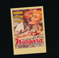##R- CPSM - Affiche Cinéma Sur Carte - Télérama - Niagara - Monroe Cotten Peters - Posters Op Kaarten