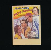 ##R- CPSM - Affiche Cinéma Sur Carte - Télérama - Pépé Le Moko - Jean Gabin - Posters Op Kaarten