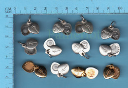 Medaille Medal Medaglia - Lot De 12 Swing Medal, Medailles Ouvrantes, Agnus Dei, Relique - Religion & Esotericism