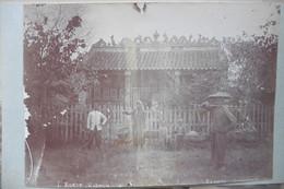 Photo Ancienne Indochine Cochinchine Pagode Annamite Par Rodet Saigon Vers 1900 - Anciennes (Av. 1900)