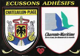 17 Châtelaillon Plage Ecussons Adhésifs As De Coeur (carte écrite) - Châtelaillon-Plage