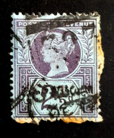 1887-1892 The 50th Anniversary Of The Regency Of Queen Victoria, 2 1/2P Great Britain, England, Used - Used Stamps