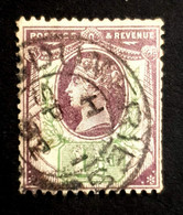 1887-1892 The 50th Anniversary Of The Regency Of Queen Victoria, 1 1/2P Great Britain, England, Used - Used Stamps