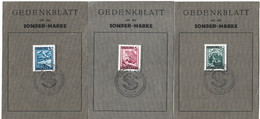AUSTRIA 1946 Three Memorial Sheets UNUSED - 1945-60 Cartas