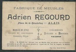 Carte De Visite Adrien Regourd Fabrique De Meubles à Alais (Gard) - Cartoncini Da Visita