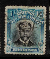 RHODESIA 1913 1/- Black And Turquoise-blue SG 233 U #BAD5 - Other