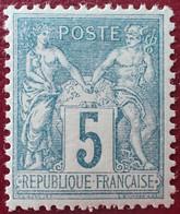 R1311/772 - SAGE TYPE II N°75 NEUF* LUXE - BON CENTRAGE - 1876-1898 Sage (Type II)