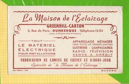 BUVARD & Blotting Paper : La Maison De L'Eclairage GREENHILL CARTON Dunkerque - Electricité & Gaz