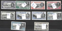 Ascension Islands  1938 Various Values With Perfs  Fine Used - Ascension (Ile De L')