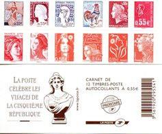 France.carnet 1518.carnet De 12 Timbres à Composition Variable.neuf Non Plié. - Definitives