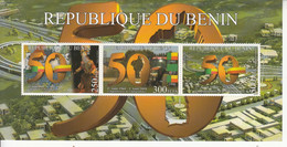 2010 Benin 50th Anniversary Independence Costumes Flags Dance Tractor DIFFICULT Souvenir Sheet  MNH - Benin – Dahomey (1960-...)