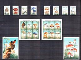 1997 Guyana Mi GY 5911-8 + 5919-24KB + 5925-30KB + 5931-2 (BL530-1) - Mushrooms. - 8s + 2s/s + 2bl MNH ** / 36 ME - Paddestoelen