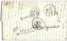PHI 019 - MARTINIQUE - St PIERRE - Marque Postale Linéaire MARTINIQUE 1826 + COLONIES PAR NANTES. DEBOURSE De MONTARGIS - 1801-1848: Precursori XIX