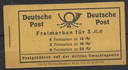 Deutsche Post Mnh ** Complete Booklet 1947 35 Euros - Zone AAS