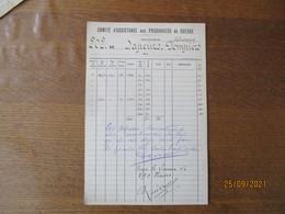 COMITE D'ASSISTANCE AUX PRISONNIERS DE GUERRE 1943-1944 SAPEURS POMPIERS COLLECTEUR DEHARVENG - Historische Documenten