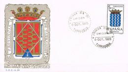 [C0564] España 1965, FDC Escudos De Capitales: Tarragona (NS) - FDC