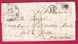 CAD TYPE 12 LANGOGNE LOZERE OR SOULAGES DECIME RURAL NOIR ET ROUGE 1839 ISSOIRE - 1801-1848: Precursori XIX